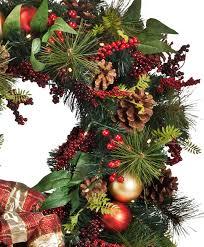 rustic pinecone u0026 berries holiday wreath tree classics
