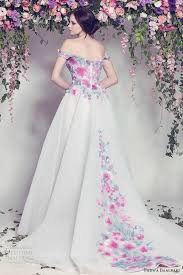 multi color wedding dress 100 colorful non white wedding dresses gowns and