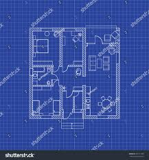 blue print house floor plan modern apartment on graph stock vector paper for