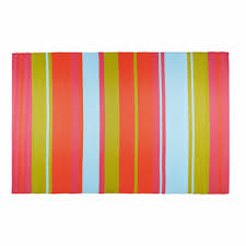 Pink Outdoor Rug Guaritito Multicoloured Stripe Fabric Outdoor Rug 180 X 270 Cm