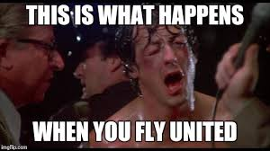 Rocky Meme - they said they needed volunteers to get off the plane imgflip