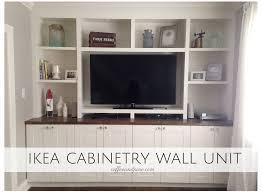 coffee and pine ikea hack wall unit