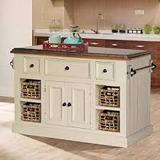 kitchen islands granite top amazon com large granite top kitchen island in country white