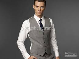 mens light gray 3 piece suit men suit light gray three piece suit accept custom made suit men