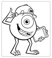coloring page monsters inc color pages inc cool monster inc coloring pages 30 in seasonal