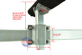 ultimate aluminum and stainless steel swivel top bunk bracket 10 by sturdy built 24934
