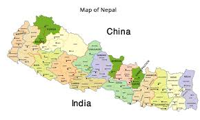 Map Of India And Nepal by Nepal Kathmandu