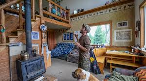 off the grid in alaska tiny home cabin interior tour youtube