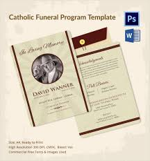 Funeral Program Sample Sample Catholic Funeral Program 12 Documents In Pdf Psd Word