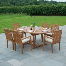 Diy Extendable Dining Table Teak Garden Furniture Dining Set Seat Oval Table Diy Home Arafen