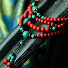 black prayer bracelet images Chinese wind national jewelry multi layers stones red and green jpg