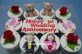 Cupcake Divinity Happy 1st Wedding Anniversary