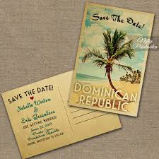 save the date postcard palm tree save the date cards