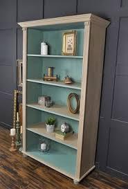 Billy Bookcase Makeover Grey U0026 White Shabby Chic Antique Pine Bookcase Artwork Design