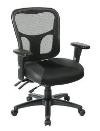 Executive Office Chairs Fabric Amazon Com Office Star Breathable Progrid Back With Leather And