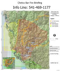Usfs Fire Map Level 1 Evacuation Stage For City Of Brookings Kobi Tv Nbc5