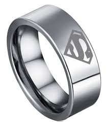cheap wedding ring 8mm bridal mens superman silver tungsten engagement ring ceremony
