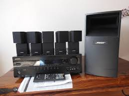 bose home theater with yamaha receiver bose acoustimass 10 series iii speaker system onkyo txsr 307