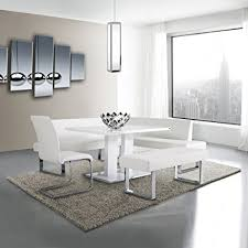 armen living coffee table amazon com armen living lcamdiwhto amanda dining table with white