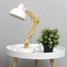 bureau architecte e le de bureau design architecte 50 cm bois et métal blanc
