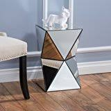 Z Shaped Side Table Amazon Com Adu Mirrored Z Shaped Side Table Kitchen U0026 Dining