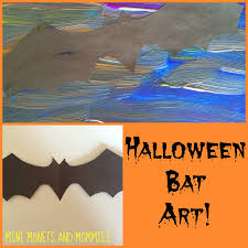 mini monets and mommies halloween bat kids u0027 paint project