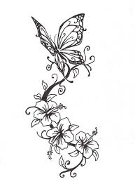 drawing of flowers and butterflies drawings of butterflies and
