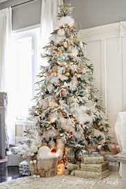 how to decor a white christmas tree