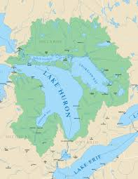 Map Of Michigan Lakes Lake Huron Michigan Sea Grant