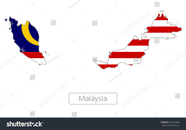 Map Of Malaysia Map Malaysia Flag Stock Vector 324395606 Shutterstock