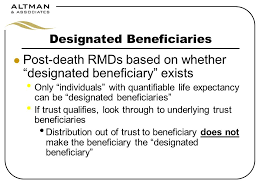 rmd single life table estate planning for retirement plans ppt download