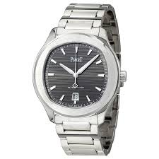 piaget polo s automatic grey guilloche men s g0a41003