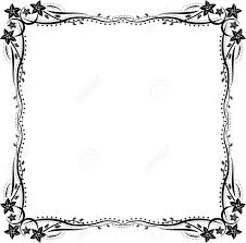 silhouette frame with floral ornaments royalty free cliparts
