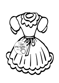 dress coloring page for girls printable free