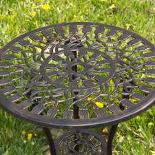 Cast Aluminum Patio Furniture Clearance by Best Choice Products Cast Aluminum Patio Bistro Furniture Set In