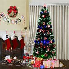 how many lights for a 7ft christmas tree costway rakuten costway 7ft fiber optic artificial christmas tree
