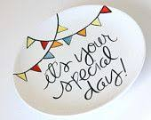 celebration plates couples plates diy ceramics large