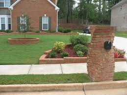 Mailbox Flower Bed Crafters Modern Brick Mailbox Designs