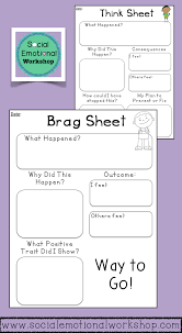 Guidance Counselor Brag Sheet Editable Behavior Reflection Sheets For Positive And Negative