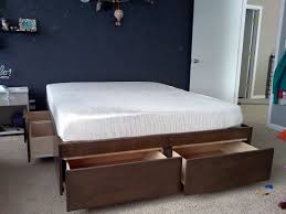 Queen Bed With Shelf Headboard by Bed Frames Platform Storage Bed Queen Platform Bed With Storage