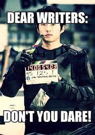 Glenn Walking Dead Meme - oh please no