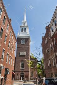 revere lantern church where paul revere signaled with a lantern stock