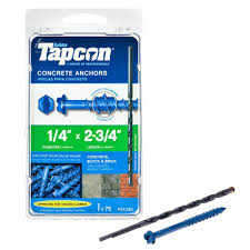 home depot black friday 2016 package tapcon 1 4 in x 2 3 4 in hex washer head concrete anchors 75