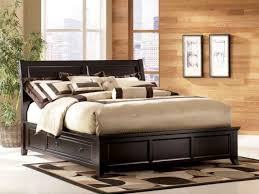 queen platform bed with storage intercon oak park solid oak queen