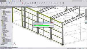 large building design in the steel detailer solidworks add in