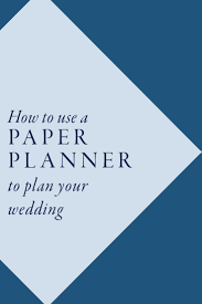 plan your wedding how to use a paper planner to plan your wedding with this ring
