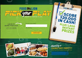 instant win gift cards foodlion your play instant win win or gift
