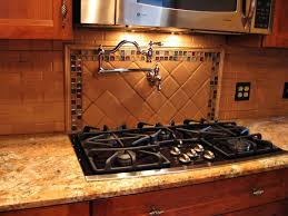 glass tile kitchen backsplash modern kitchen