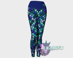 Plus Size Mermaid Leggings Mermaid Leggings Etsy