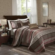 Madison Park Bedding Madison Park Dartmouth Red 5 Piece Jacquard Bedspread Set Free